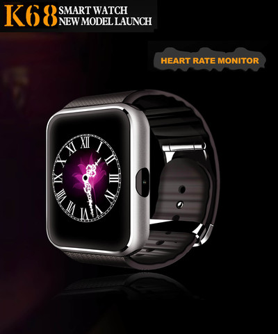 아재몰_(982142)_스마트워치 시계_K68 Smart Watch 1.54ich G+F Screen bluetooth With Heart Rate Monitor For IOS Android OS