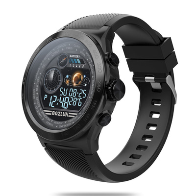 아재몰_(1475226)_스마트워치 스포츠시계_Bakeey W31 IPS Stainless Steel Bezel GPS Heart Rate Sleep Monitor 8 Sports Mode Super Large Battery Fitness Tracker Smart Watch