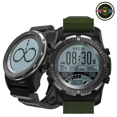 아재몰_(1440354)_스마트워치 스포츠시계_Bakeey S966 GPS Heart Rate Monitor Compass Temperature Multi-sport Modes Outdoor Watch Smart Watch