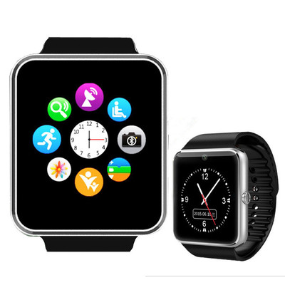아재몰 스마트워치 폰 GT08 MTK6261 bluetooth Smart Watch Sync Notifier With SIM Card for Android
