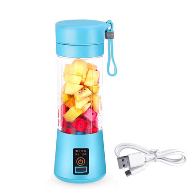 아재몰_컵 물컵 물병 캠핑 휴대용컵_380ml Portable Juicer USB Rechargeable Fruit Blender Juicer Shaker Bottle
