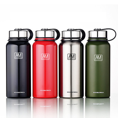 아재몰_컵 물컵 물병 캠핑 휴대용컵_IPRee 1100ml Outdoor Portable Vacuum Insulated Water Bottle Double Walled Stainless Steel Drinking Cup Sports Travel