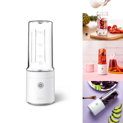 아재몰_컵 물컵 물병 캠핑 휴대용컵_Xiaomi Pinlo 350ml Fruit Juicer Bottle Portable USB Rechargeable DIY Juicing Extracter Cup For Outdoor Travel Camping
