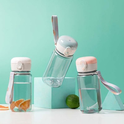 아재몰_컵 물컵 물병 캠핑 휴대용컵_Jordan&Judy 400ml Water Bottle Transparent Plastic Portable Lightweight Cup from Xiaomi Youpin