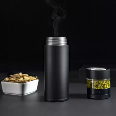 아재몰_컵 물컵 물병 캠핑 휴대용컵_Pinztea 360ml Water Bottle Food Grade Stainless Steel Insulated Thermos Coffee Mug From Xiaomi youpin