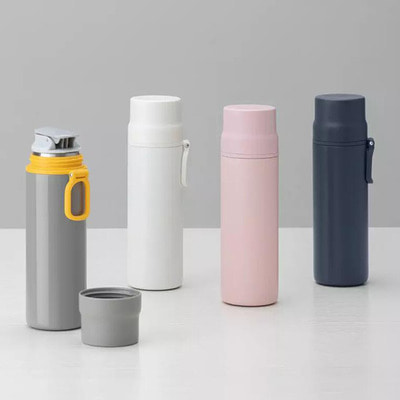 아재몰_샤오미 컵 물컵 물병 캠핑 휴대용컵_Xiaomi 450ml Stainless Steel Thermose Vacuum Insulated Water Bottle Portable Travel Drinking Cup