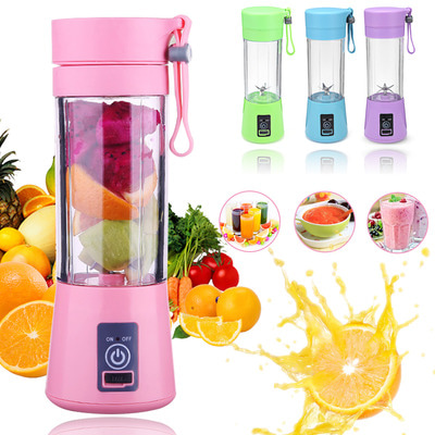 아재몰_컵 물컵 물병 캠핑 휴대용컵_400ml 6 Blades USB Fruit Juicer Bottle Portable DIY Juicing Extracter Cup Machine