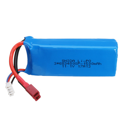 아재몰_RC 헬리콥터 헬기 배터리_WLtoys V950 RC Helicopter Part 1500mAh 11.1V 20C 3S T Plug Lipo Battery