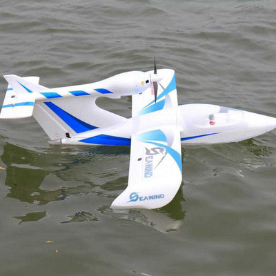 아재몰_RC비행기_Dynam Seawind 1220mm (48) Wingspan EPO Seaplane Blue/Red RC Airplane PNP with Gyro