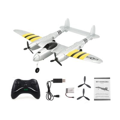 아재몰_RC비행기_Flybear FX-816 P38 RC Airplane RTF 430mm Wingspan 2.4GHz 2CH EPP Aircraft Scaled Zoom Fixed Wing Outdoor Flight Remoted-controlled Plane Trainer