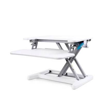 아재몰 노트북 침대 책상 트레이 거치대_XIAOMI Sit-Stand Desk Riser Loctek Sit-Stand Workstation Height Adjustable Computer Laptop Desk with Removable Keyboard Tray 1484677