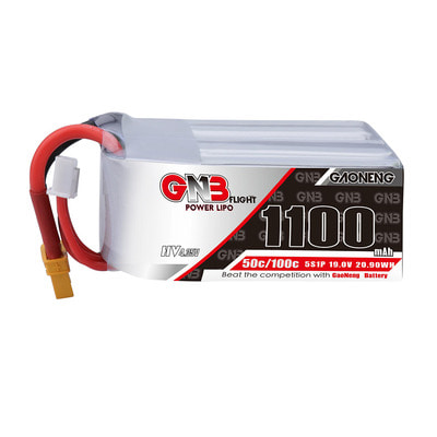 아재몰 RC드론 배터리 Gaoneng GNB 19V 1100mAh 50C 5S HV Lipo Battery XT30/XT60 Plug for RC Racing Drone