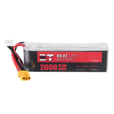 아재몰 RC드론 배터리 BT BEAT 14.8V 2600mAh 35C 4S Lipo Battery XT60 Plug With Battery Strap for RC Racing Drone