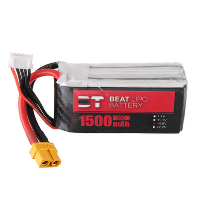 아재몰 RC드론 배터리 BT BEAT 14.8V 1500mAh 35C 4S Lipo Battery XT60 Plug With Battery Strap for RC Racing Drone