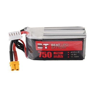 아재몰 RC드론 배터리 BT BEAT 14.8V 750mAh 75C 4S Lipo Battery XT30 Plug for RC Racing Drone