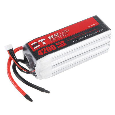 아재몰 RC드론 배터리 BT BEAT 22.2V 4200mAh 65C 6S Lipo Battery Without Plug for RC Racing Drone