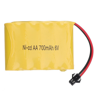 아재몰 RC 배터리 JJRC D823 D824 1/12 Original 6V 700mAh  SM Plug Ni-cd Battery RC Car Spare Parts
