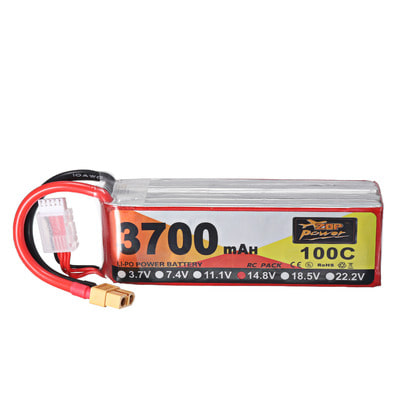 아재몰 RC드론 배터리 ZOP Power 14.8V 3700mAh 100C 4S Lipo Battery XT60 Plug for for FPV RC Drone