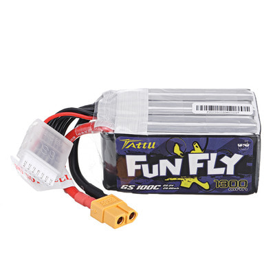 아재몰 RC 배터리 TATTU Funfly Series 22.2V 1300mAh 100C 6S Lipo Battery XT60 Plug for RC Racing Drone