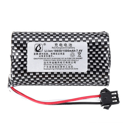 아재몰 RC카 배터리 KYAMRC 1898A 1899A 7.4V 1500mAh 5C 2S SM Plug Li-ion Battery for 1/18 RC Car Models
