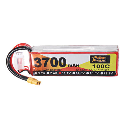아재몰 RC드론 배터리 ZOP Power 11.1V 3700mAh 100C 3S Lipo Battery XT60 Plug for RC Drone