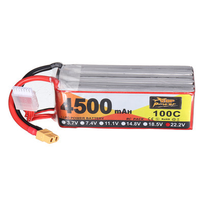 아재몰 RC드론 배터리 ZOP Power 22.2V 4500mAh 100C 6S Lipo Battery XT60 Plug for RC Racing Drone