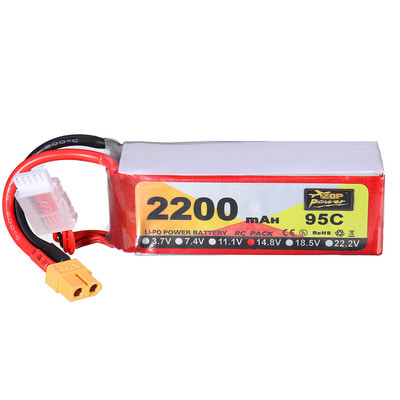 아재몰 RC드론 배터리 ZOP Power 14.8V 2200mAh 95C 4S Lipo Battery XT60 Plug for RC Racing Drone