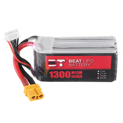 아재몰 RC드론 배터리 BT BEAT 14.8V 1300mAh 35C 4S Lipo Battery XT60 Plug for RC Racing Drone