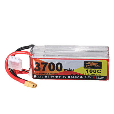 아재몰 RC드론 배터리 ZOP Power 22.2V 3700mAh 100C 6S Lipo Battery XT60 Plug for for FPV RC Drone