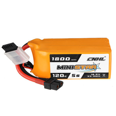 아재몰 RC드론 배터리 CNHL MINISTAR 18.5V 1800mAh 120C 5S Lipo Battery XT60 Plug for RC Racing Drone