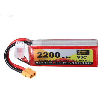 아재몰 RC드론 배터리 ZOP Power 11.1V 2200mAh 95C 3S Lipo Battery XT60 Plug for RC Racing Drone