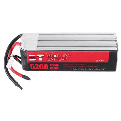 아재몰 RC 배터리 BT 22.2V 5200mAh 65C 6S Lipo Battery Without Plug for 700 Class Helicopter