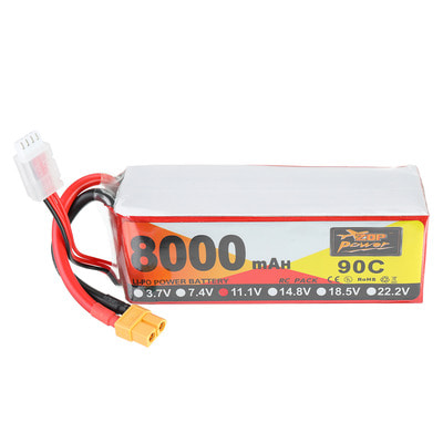 아재몰 RC드론 배터리 ZOP Power 11.1V 8000mAh 90C 3S Lipo Battery XT60 Plug for RC Racing Drone