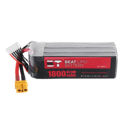 아재몰 RC드론 배터리 BT BEAT 22.2V 1800mAh 65C 6S Lipo Battery XT60 Plug for RC Racing Drone