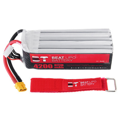 아재몰 RC드론 배터리 BT BEAT 22.2V 4200mAh 35C 6S Lipo Battery XT60 Plug for RC Racing Drone