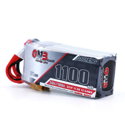 아재몰 RC드론 배터리 Gaoneng GNB 11.4V 1100mAh 50C 3S Lipo Battery XT30 Plug for RC Racing Drone