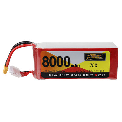 아재몰 드론 배터리 ZOP Power 22.2V 8000mAh 75C 6S Lipo Battery XT60 Plug for RC Drone